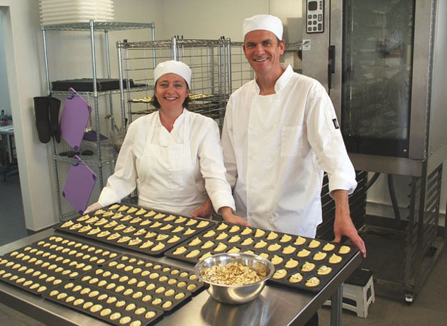 <p>Laetitia and Lionel Lagadec have co-founded Mademoiselle Madeleine, a maker of madeleines, a French pastry, on East Haley Street in Santa Barbara.</p>