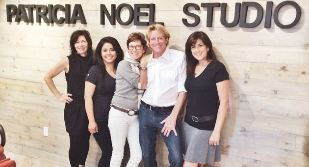 <p>Patricia Noel Studio owner Patricia Noel, center, with her staff, from left, Robin Bolger, Adriana Esparza, Bruce Green and Andie Brown.</p>