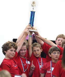 The team from Washington School won first place in the Math Super Bowl's schoolwide competition Thursday