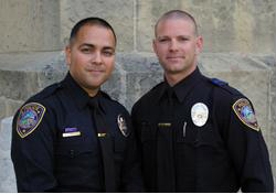 Lompoc Detectives Sergio Arias and Brian Guerra also received the H. Thomas Guerry Award for Valor, for their work on the gang and narcotics enforcement team.