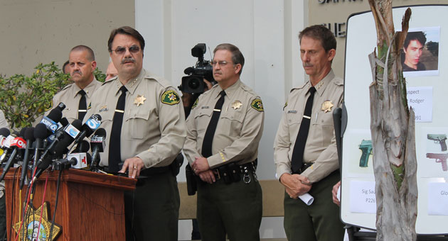 At a Saturday news conference, Santa Barbara County Sheriff Bill Brown provided a detailed accounting of the murderous rampage that led to seven deaths and 13 injuries Friday night in Isla Vista. (Urban Hikers photo)