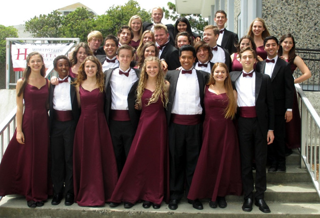 The San Marcos High School Madrigal Singers earned the Gold Chamber Group Choir trophy, the Adjudicator's Award for Chamber Choir and the Oustanding Choral Group trophy at the Heritage Spring Festival in the Bay Area held over the weekend.
