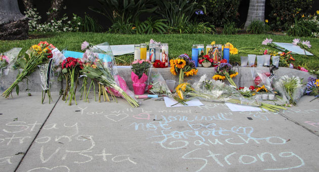 <p>Memorials of flowers, candles and messages have been created around Isla Vista in honor of the victims of last Friday&#8217;s deadly rampage.</p>