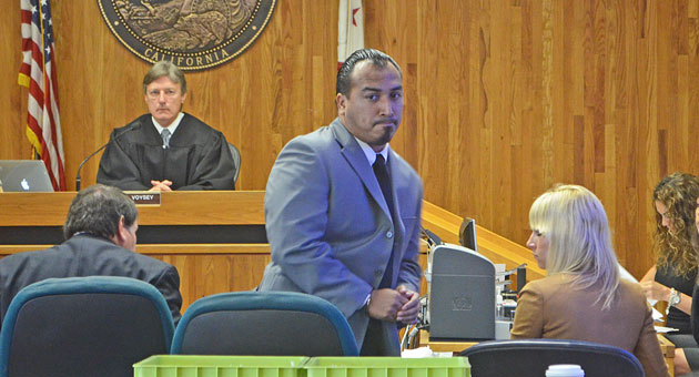 <p>Raymond Morua appeared Wednesday in Santa Barbara Superior Court, where he was sentenced to 20 years to life in prison in the DUI/hit-and-run death of Mallory Rae Dies.</p>