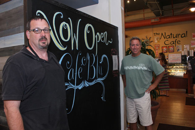 <p>General Manager Johno Dunn, left, and owner Kelly Brown have opened Caf&#233; Blu, at 506 State St. in Santa Barbara, to serve as an alternative late-night hangout to the downtown bars and clubs.</p>