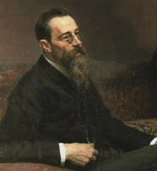 Ilya Repin's portrait of Nikolai Rimsky-Korsakov gives us a casually elegant composer, instead of the stern fanatic we are used to.