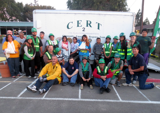 <p>Participants celebrate the completion of the City of Goleta&#8217;s second Spanish Community Emergency Response Team training.</p>