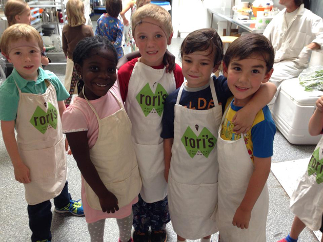 <p>Students from The Howard School visit Rori&#8217;s Artisanal Creamery. Pre-kindergarten through eighth-grade students are working with Rori's to invent five artisanal ice cream flavors, one of which will be selected as the creamery's featured summer flavor.</p>