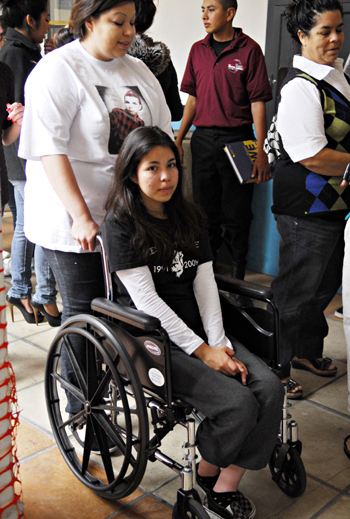 Yessika Arredondo, who was riding in the backseat of the vehicle driven by her brother, Marcos, at the time of the crash, suffered serious injuries that left her confined to a wheelchair.