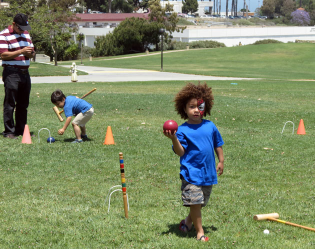 Kids activities included croquet. (Gina Potthoff / Noozhawk photo)