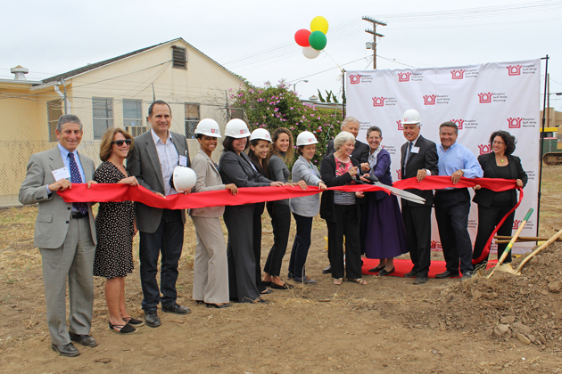 Peoples' Self-Help Housing breaks ground on the Jardin de las Roses project in Santa Barbara Wednesday with the help of project partners, elected officials and community members.