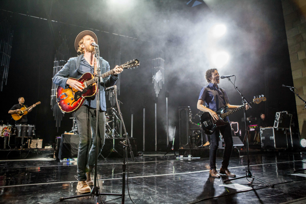 The Lumineers light up the stage Saturday at the Santa Barbara Bowl.