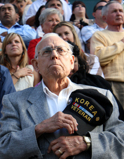 A Korean War veteran was among the Santa Barbara High School alumni who attended Thursday's commencement ceremony