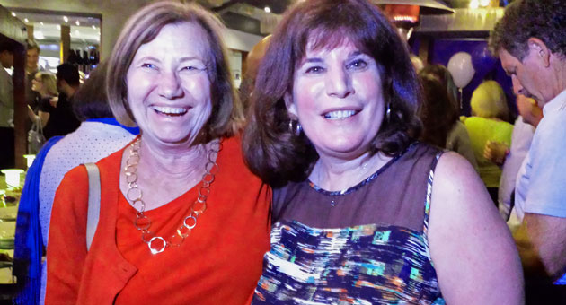 janet wolf with her sister in law ros wolf is all smiles tuesday night ...