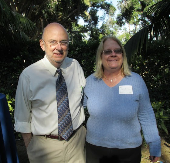 Curt Lauber, director of development, with Major Cru Sponsor Marie Williams Shipman.