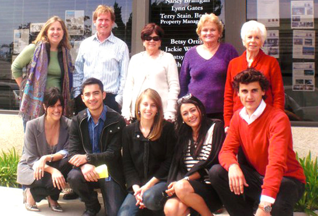 <p>Seascape Realty staff members, top row left to right, Lynn Gates, Terry Stain, Shirley Kimberlin, Patsy Cutler and Nancy Branigan with SBCC SIFE members, bottom row left to right, Melissa Moreno, Bruce Urena, Claire Skodnek, Chloe Joubert and Dimitri Villiers-Moriame.</p>