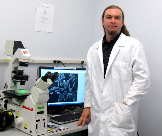 <p>Gary Braun, a postdoctoral associate in the Ruoslahti Lab in the Department of Molecular, Cellular and Developmental Biology and at Sanford-Burnham Medical Research Institute.</p>
