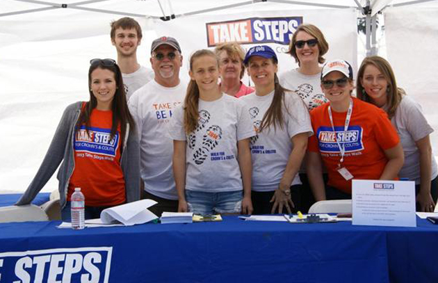 <p>Participants of the fifth annual Take Steps Central Coast Walk at Chase Palm Park in Santa Barbara raised more than $16,000. (Crohn's &amp; Colitis Foundation of America photo)</p>