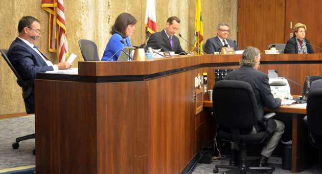 "The Board of Supervisors discusses Santa Barbara County's upcoming budget during Wednesday's ""meeting."""
