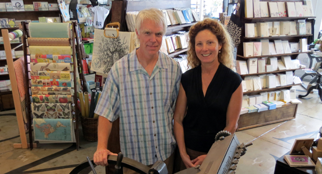 <p>Frank and Marlene Bucy have reopened their Folio Press &amp; Paperie/Wootton Printing business at 301 Motor Way in downtown Santa Barbara. The old location on Hollister Avenue closed about a year ago, making way for renovations and moving into the new space.</p>