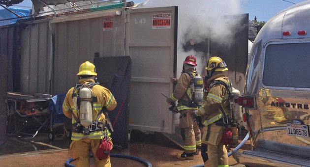 Santa Barbara City Firefighters Knock Down Flames That