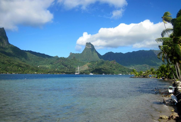 <p>Moorea, the site of research on coral reef ecosystems used in the UCSB study.</p>
