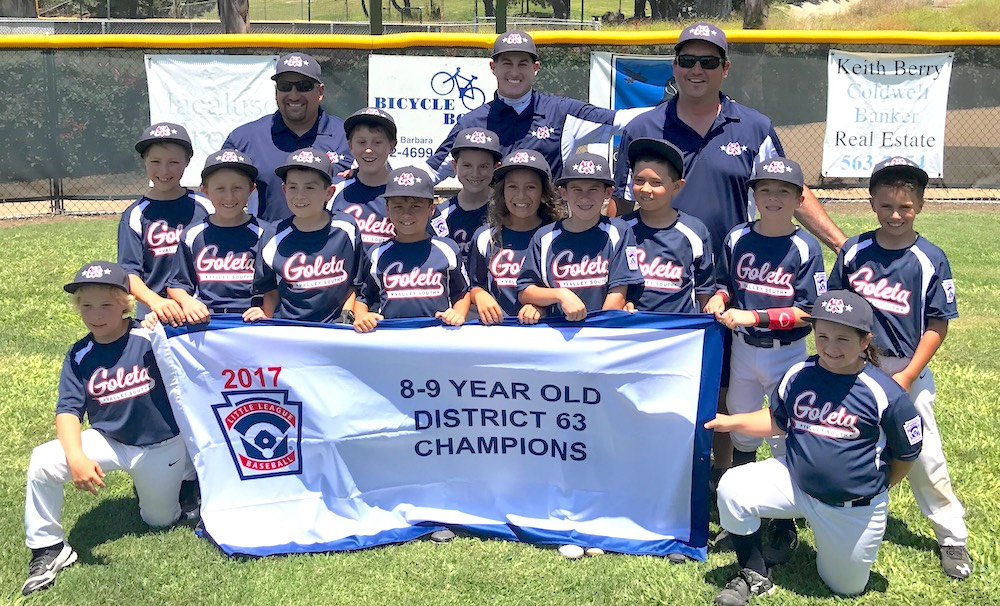 The Goleta Valley South Little League 9-Under All-Stars went undefeated in the District 63 Tournament.