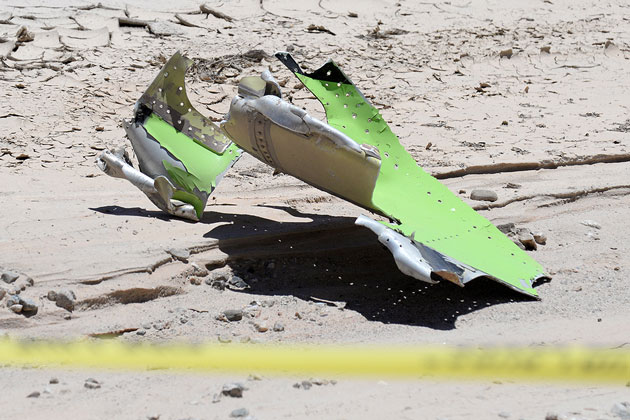 Only relatively small pieces remained of a single-engine plane that crashed Monday in a remote area new Cuyama.