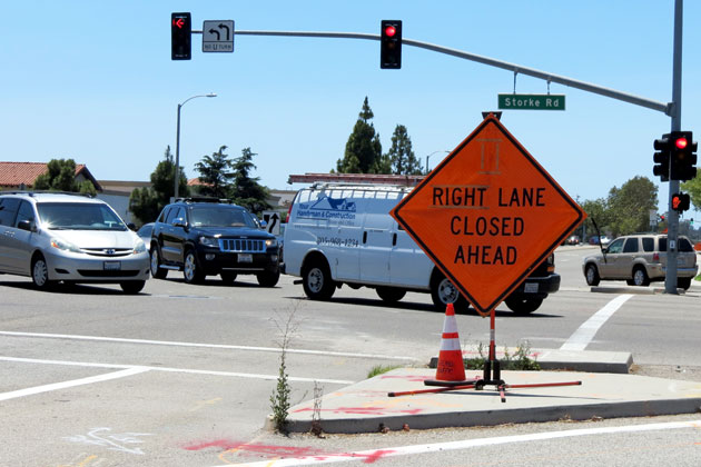 Goleta has hired a traffic engineer and her first priority will be the congested intersection at Hollister Avenue and Storke Road.