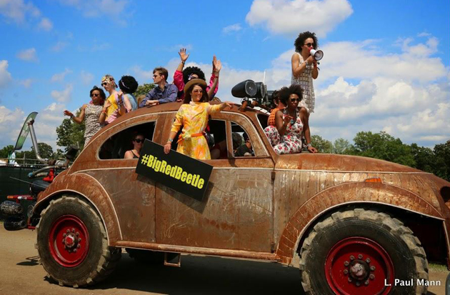 <p>Fans roll in last Thursday for the first day of Bonnaroo.</p>