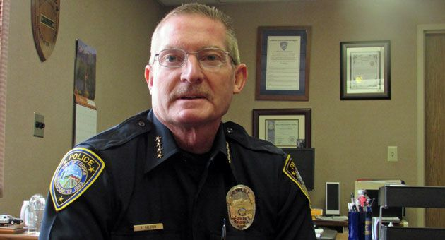 Retiring on Monday after 31 years as a police officer, Lompoc Chief Larry Ralston points with pride to his department's accomplishments, among them the arrest of a major local gang leader. 'To be able to take down a key player who influences the gangs in Santa Barbara County is a huge accomplishment for our department, for our detectives and for Santa Barbara County,' he says. 'This isn't one that just affected Lompoc, this affected everybody.' (Janene Scully / Noozhawk photo)