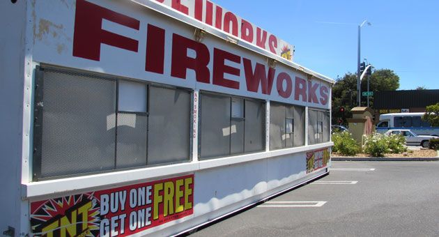 Fireworks sales are under way in Lompoc, where 'safe and sane' fireworks can only be discharged between 9 a.m. and 10 p.m. July 4. (Janene Scully / Noozhawk photo)