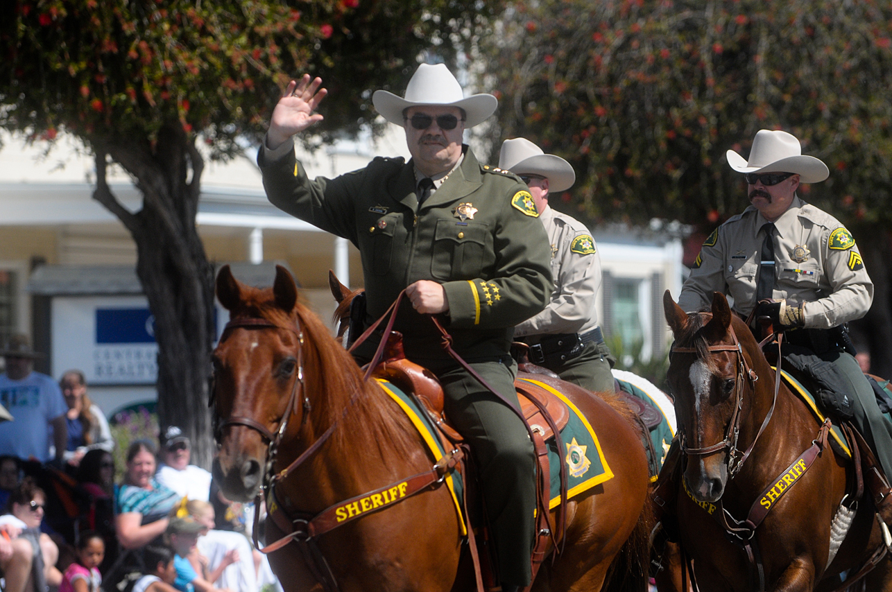 Santa Barbara County Sheriff Bill Brown rides with other members of the sheriff's Mounted Enforcement Unit in the parade.