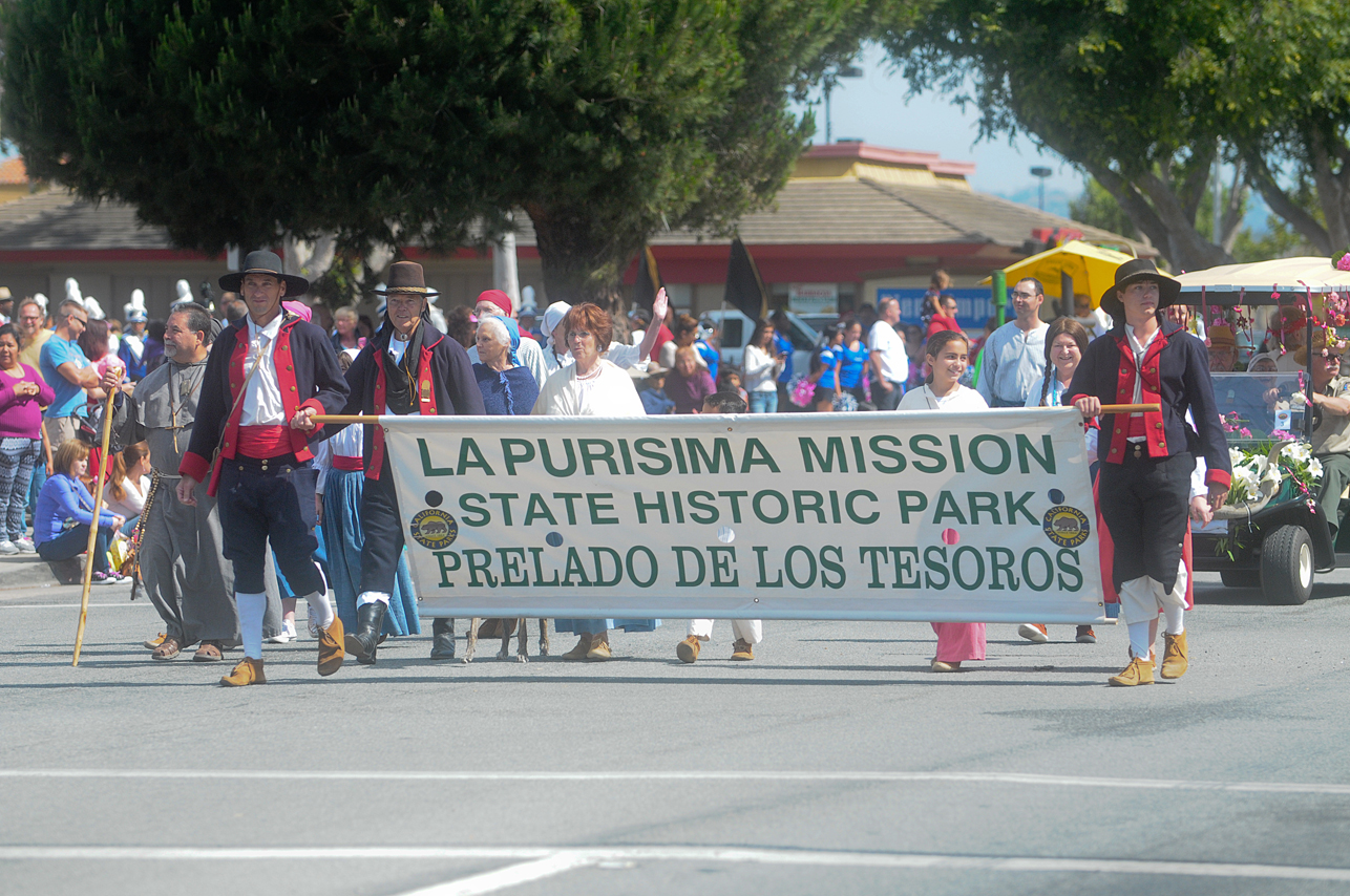 La Purisima State Historic Park Docents and Prelado de las Tesoros members join the parade.