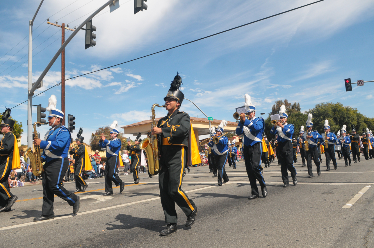 The parade included marching bands from Cabrillo and Lompoc high schools.
