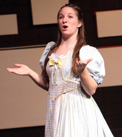 Maggie Langhorne, seen performing in last year's production of Oklahoma, stars as Maria in Westmont Bravissimo theater camp's The Sound of Music.