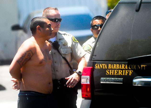 <p>One of two suspects is taken into custody Friday after a standoff on San Blanco Drive in Goleta involving the Sheriff&#8217;s Department&#8217;s special-enforcement personnel.</p>
