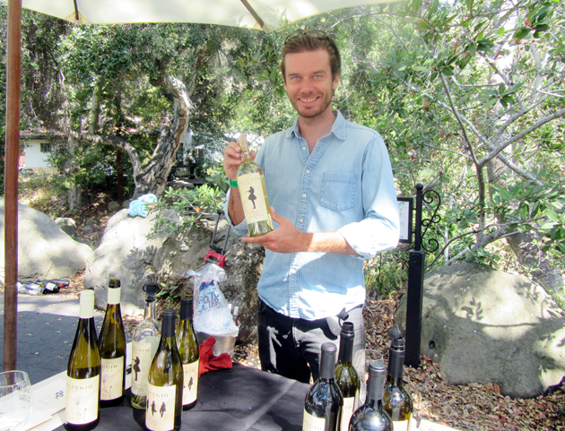 General manager and partner Max Gleanson offered samples from his family's Refugio Ranch Vineyards.