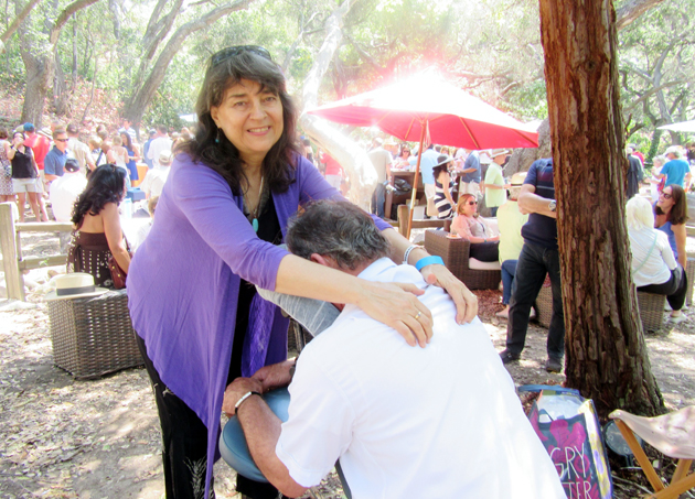 VIP guests were treated to a free chair massage by Karelyn Larson.