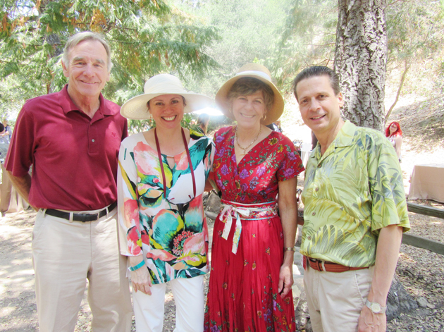From left, John Kinnear, Stacy Svetland, Santa Barbara Museum of Natural History board chair Bobbi Kinnear and museum president/CEO Luke Svetland at the 29th annual Santa Barbara Wine Festival, with proceeds benefiting the museum's exhibits and educational programming.