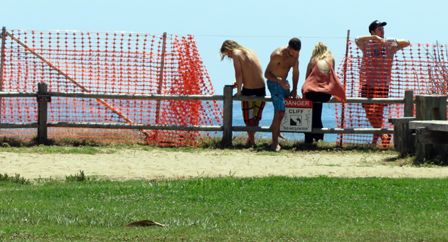 <p>Several portions of the newly installed temporary fencing near the bluffs along Del Playa Drive in Isla Vista have already been torn down, just weeks after UC Santa Barbara paid $21,000 to put it up for student safety.</p>