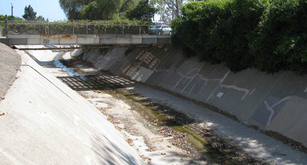 <p>The Goleta project includes taking the already channelized San Jose Creek and increasing its capacity by excavating straight down from the bank into what are currently walls that slope to the creek bottom.</p>