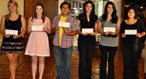 Santa Barbara Elks Lodge No. 613 awarded $1,000 scholarships to local students, left to right, Lerina Winter and Jennifer Otis of Dos Pueblos High School, Irvin Lazaro of Santa Barbara High School, Maria and Alejandrina Lorenzano of San Marcos High School, and Joskua Carrillo of Santa Barbara High.