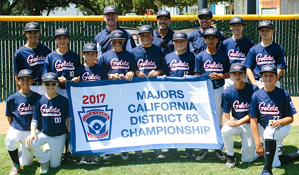 Goleta Valley South Little League captures the 12-Under District 63 12-Under Tournament championship.