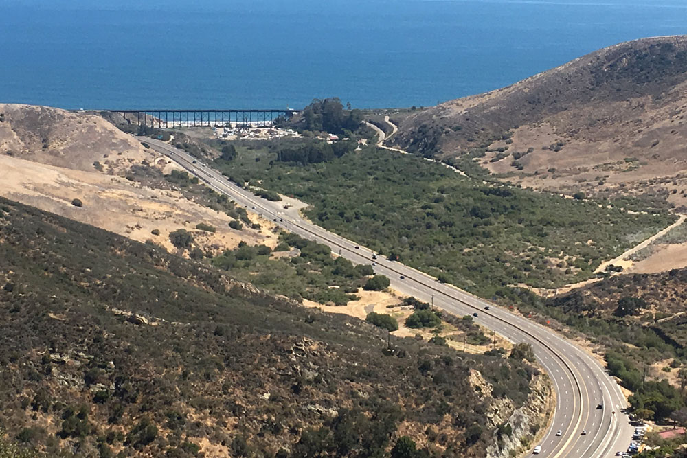 Highway 101 at the Gaviota Curve is near the northern terminus of the newly designated Gaviota Coast State Scenic Highway.