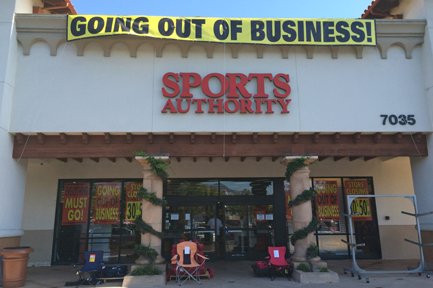 The Camino Real Marketplace Sports Authority in Goleta is closing and will be replaced by Dick's Sporting Goods.