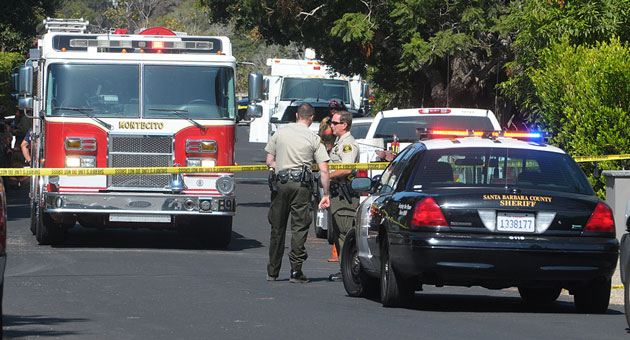 Virginia Road in Montecito remained closed Monday morning after a resident threatened to detonate an explosive device.