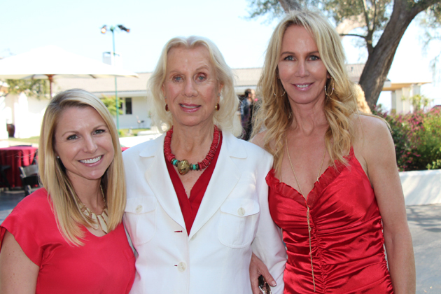 Lisa Dosch, left, executive director of the American Heart Association Central Coast Division, with honoree Betty Stephens and her daughter, Joi Stephens, at the 16th annual Heart Ball held at the Hope Ranch Stephens Estate.