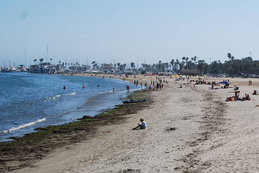 The beach was the place to beat the heat in Santa Barbara on Friday, and Saturday is expected to also be toasty.