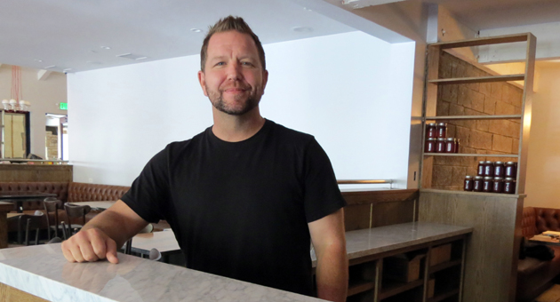 Restaurateur John Bennett's newest endeavor is Benchmark Eatery, which will soon be open at 1201 State St. in the heart of downtown Santa Barbara. (Gina Potthoff / Noozhawk photo)